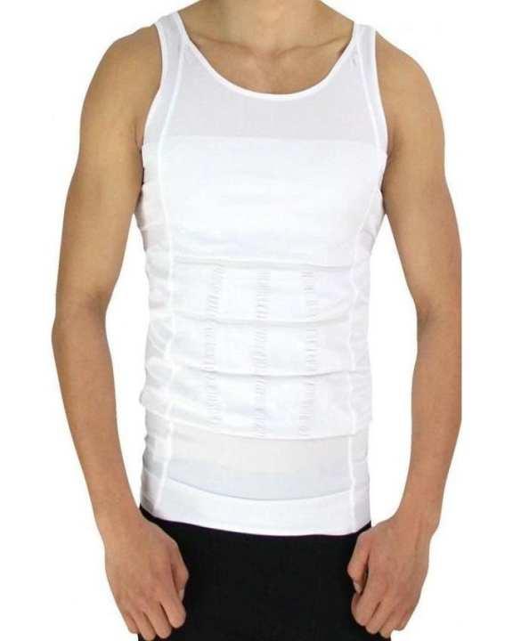 Slim N Lift - Nylon Slimming Vest For Men - White