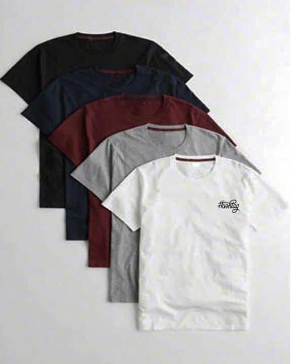 Pack Of 5 -HashTag Multicolor Cotton Printed T-Shirt For Men PHT-05-02