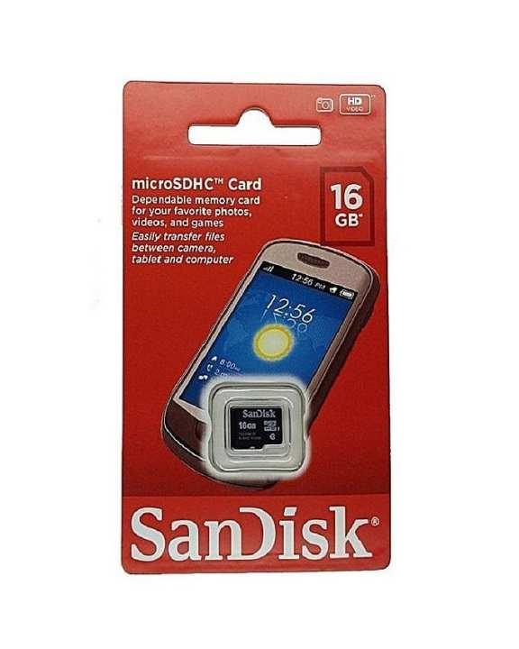 Micro SDHC Card - 16GB - Black