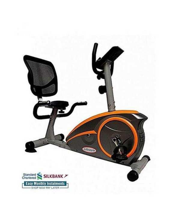 Rb4800 - Magnetic Recumbent Bike - Orange & Grey