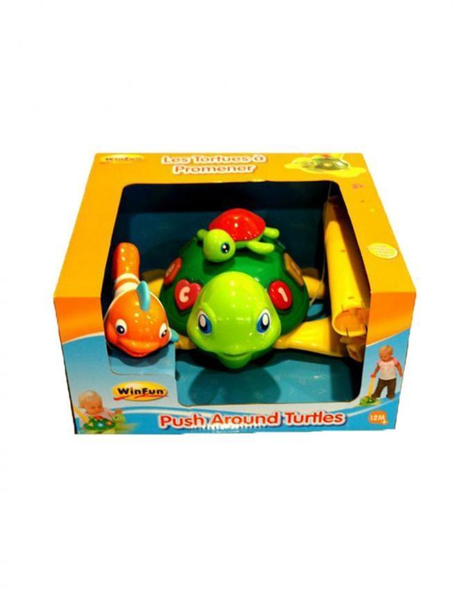 Winfun - Push & Walk Turtle - Multicolor