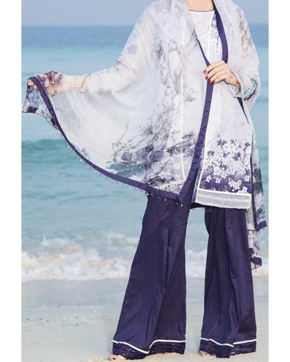 Purple Unstitch 3 Piece LAWN For Women - Spring Summer Collection Vol.01 2018