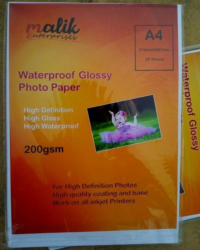 Photo Paper a4 Size 200g for All inkjet printers