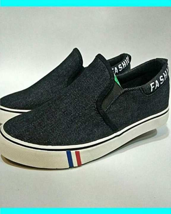American Style Jeans Sneakers For Men - Black