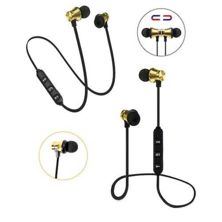 Athlete Series Wireless Magnetic Bluetooth Stereo In-Ear Sports Handfree / Earphone - Golden