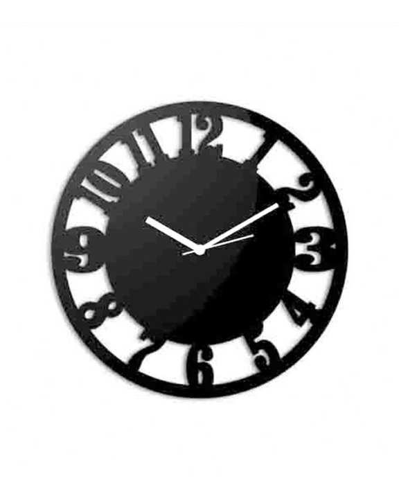 Simple Numbers Wallclock - Black