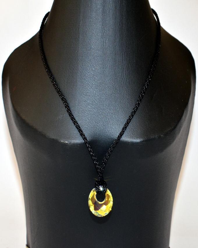 Swarovski Crystal Circle Pendant Necklace