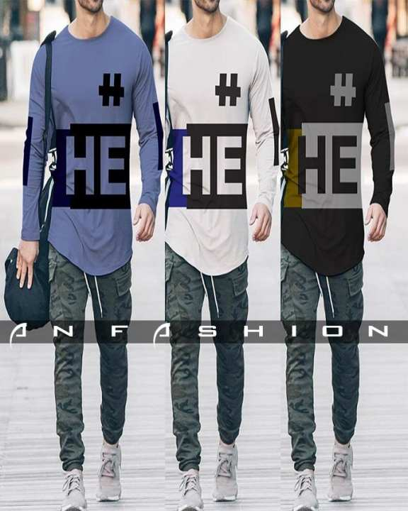 Pack Of 3 - Hashtag #He T-Shirt For Men