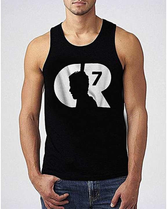 Black Cr 7 Sando For Men