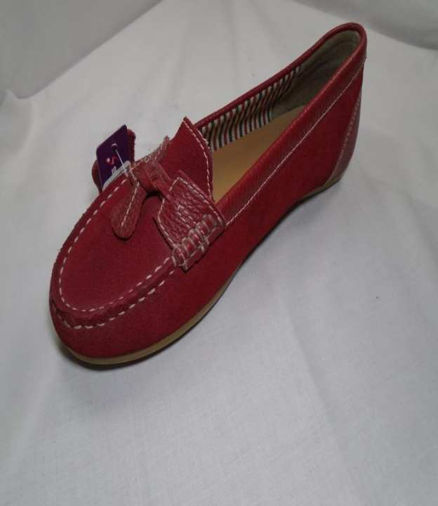 Red Leather Pu Sole Shoes For Women 1070-0009