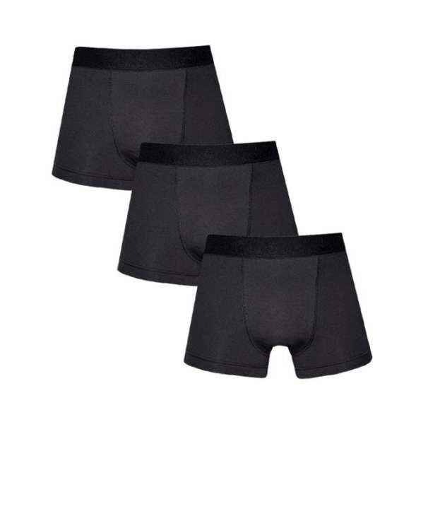 Pack of 3 - Black Cotton Boxer for Men