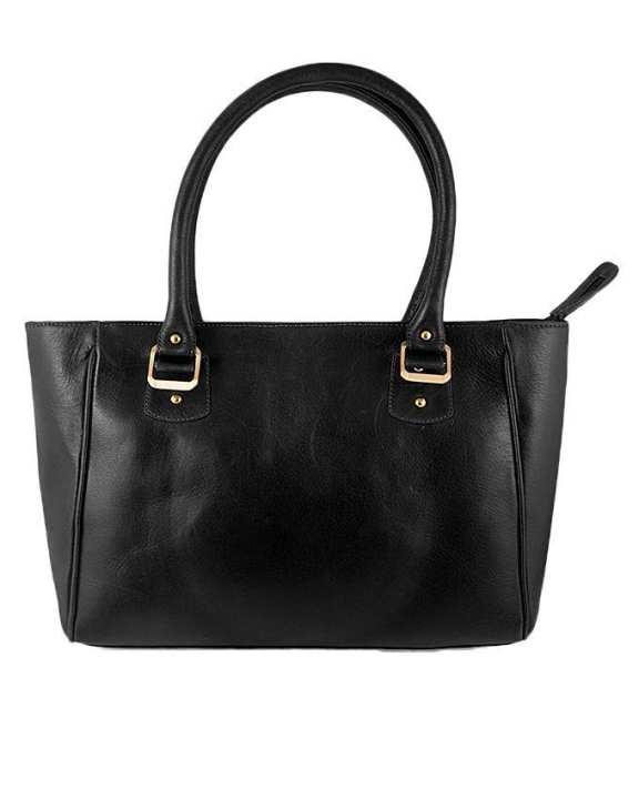 Black Leather Handbag For Women