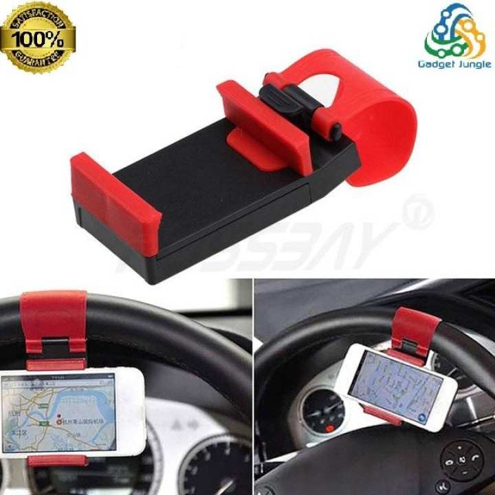 Phone Holder Universal Steering Wheel Socket Cell Phone Holder Car - Support for GPS Mount Clip Rubber - 55~85mm