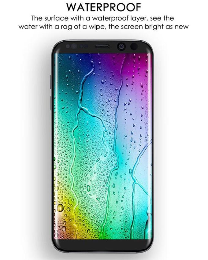 4D Curve Full Screen Glass for Samsung Galaxy S8 Plus - Curve Edge - Silver