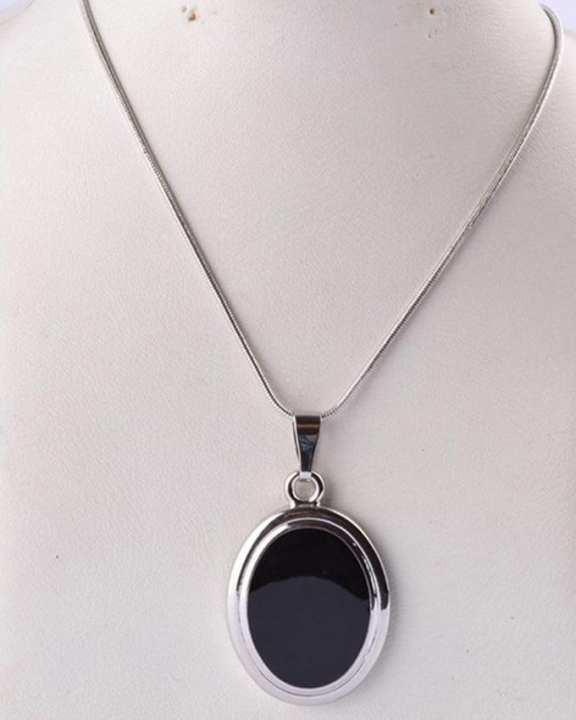 Black Stone Chain - Black
