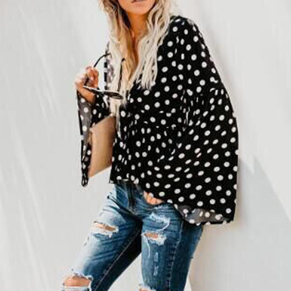 61210b35a56d26 Fashion Womens V-Neck Circular Point Pagoda sleeve Shirt Blouse Tops  Buy  Online at Best Prices in Pakistan
