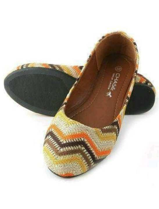 """Ladies Pumps - Artificial Leather - 9"""" - Brown -"""