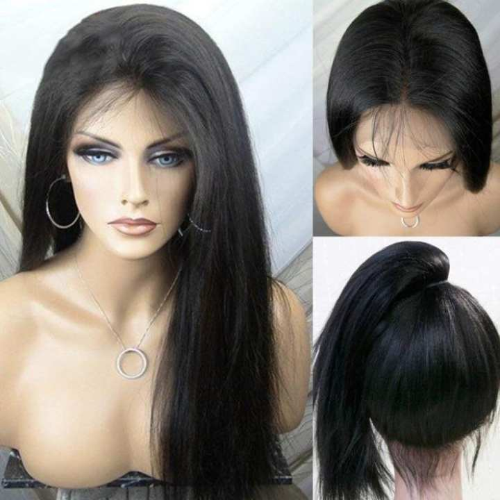 Full Head Hair Wig For Women Natural Black Color