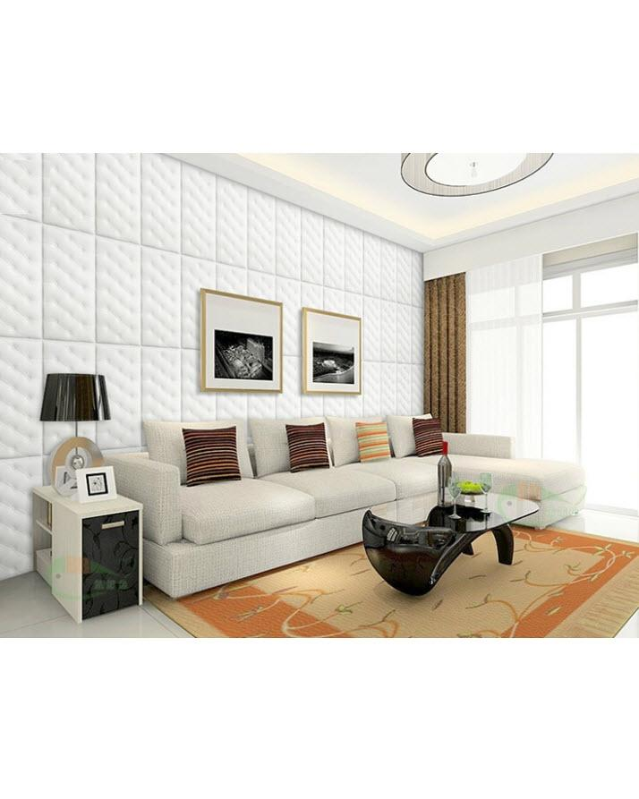 Pack of 12 - 3D Anti-Collision Wall Sticker Self-Adhesive Foam Wallpaper Panels