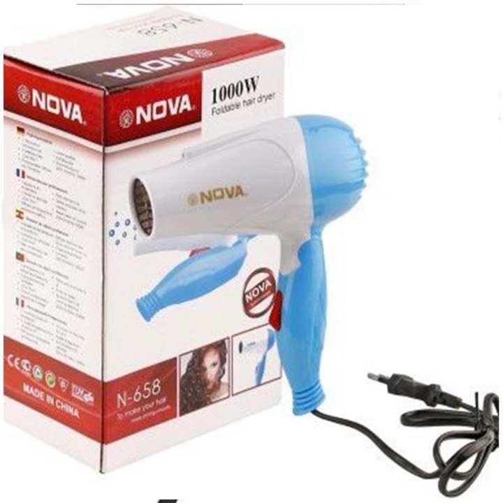 Nova 1000W - Heavy Duty Electrical Foldable Hair Dryer