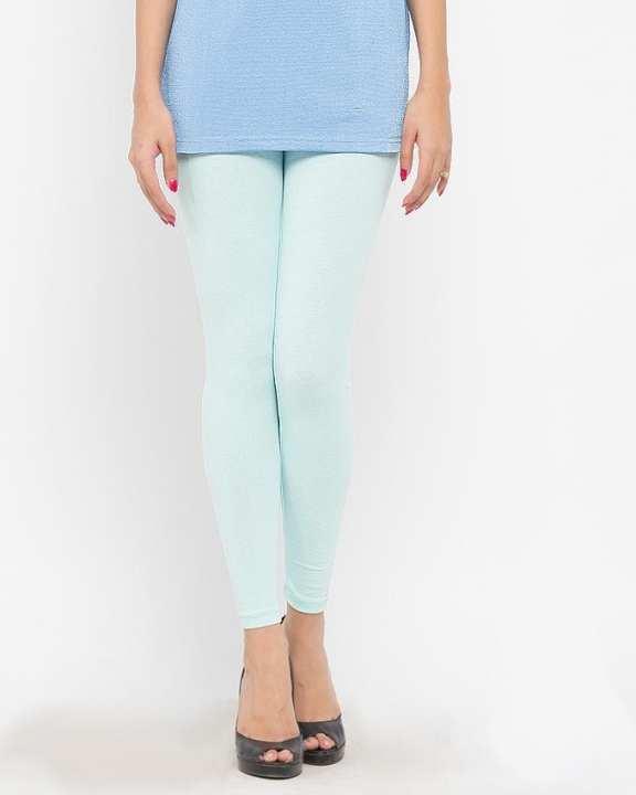 Sky Blue Cotton & Lycra Tights