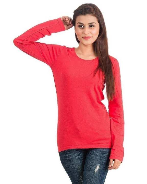 Red Cotton T-Shirt For Girls