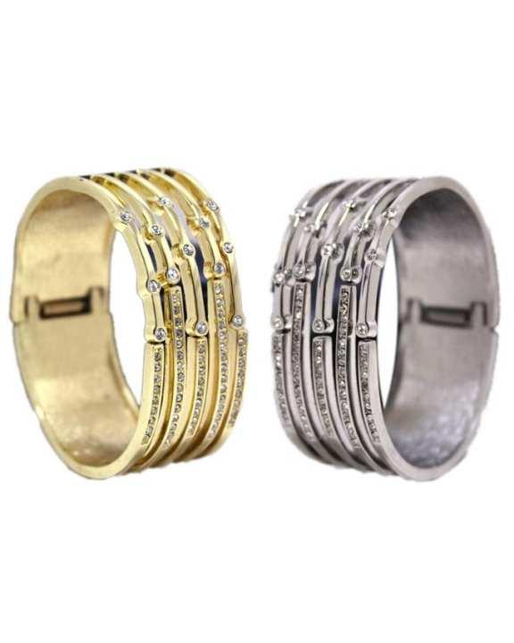Pack of 2 - Golden & Silver Stone Bracelet For Women