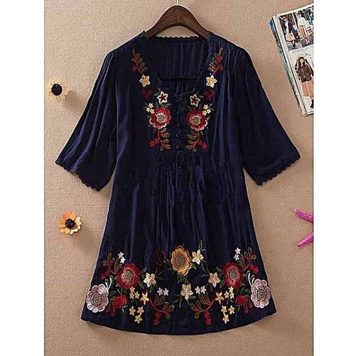Embroided Cotton Shirt For Women