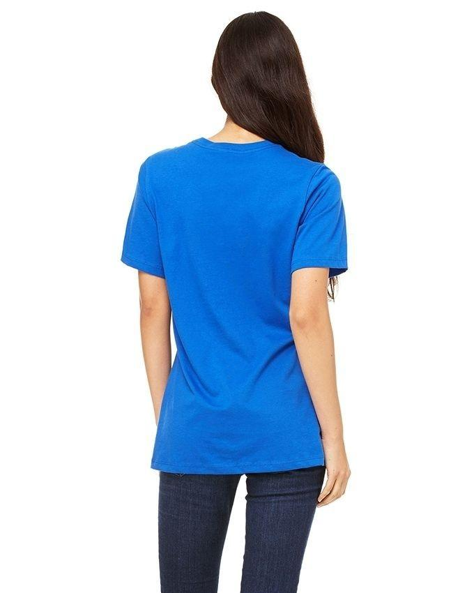 Royal Blue Cotton Rabbit Printed Cotton T Shirt for Women