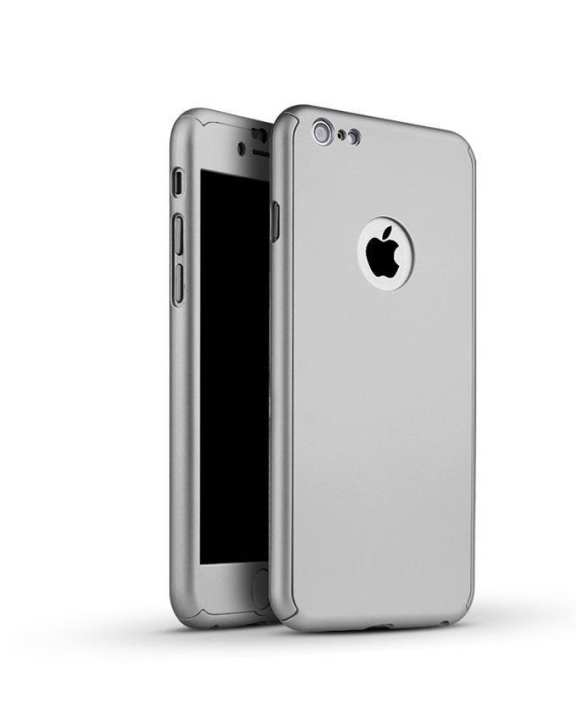 360 Degree Full Protection Case with Screen Protection for Apple iPhone 6 Plus - Silver