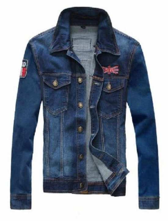 Blue Denim Jacket For Men - UK-FLAG