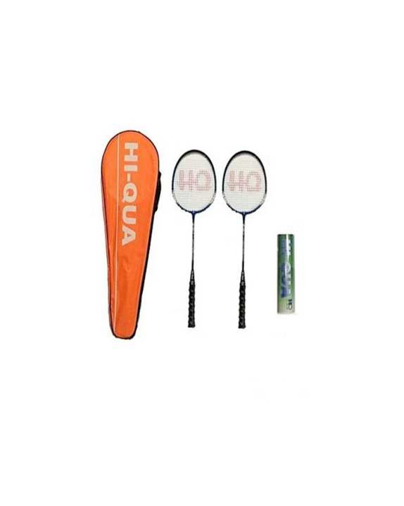Pack Of 2 - Badminton Rackets With Shuttle Box - Black