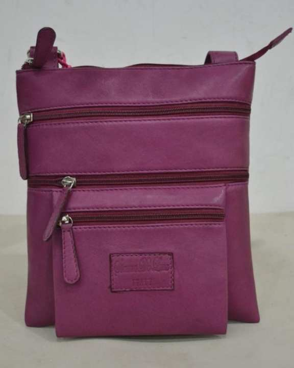 Pink Leather Cross Body Bag For Women
