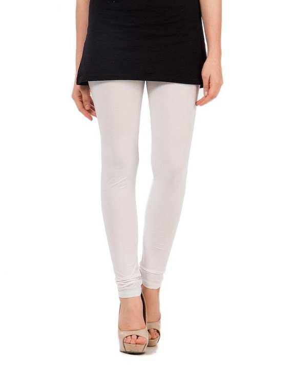 White RTY Fabric Tights For Women