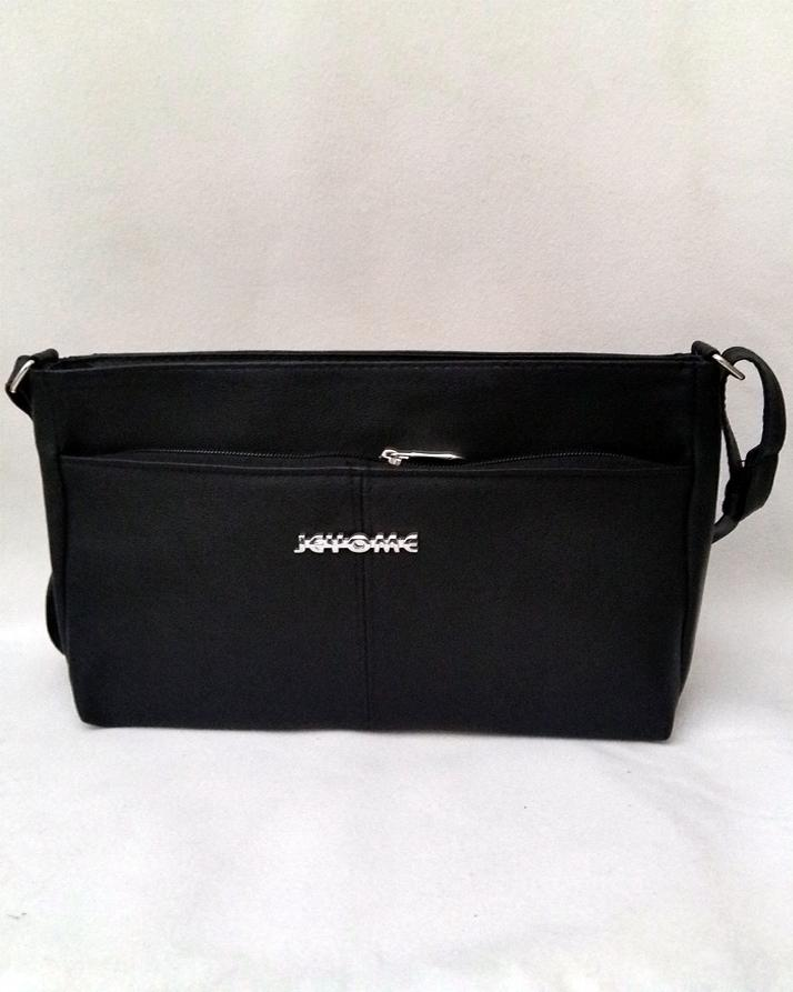 597361712a5a Black Leather Rexine Cross Body Bag For Women