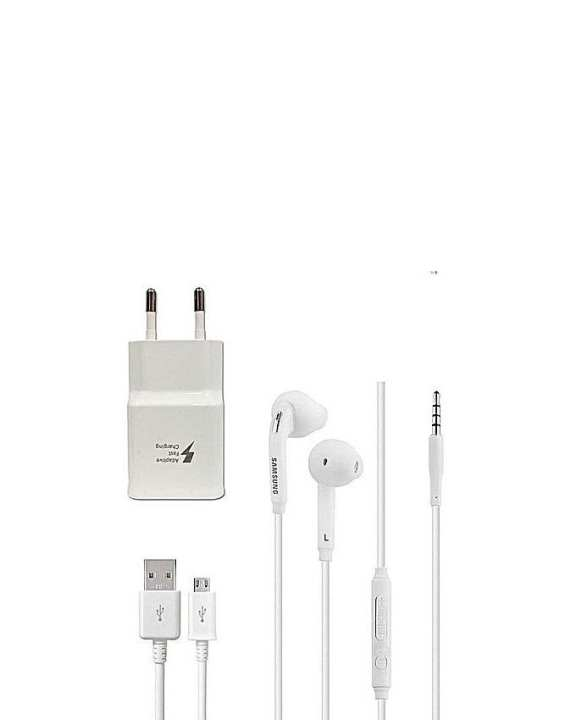 Bundle Offer - USB Data Cable, Adaptive Fast Charger & Earphone for Samsung C7 Pro