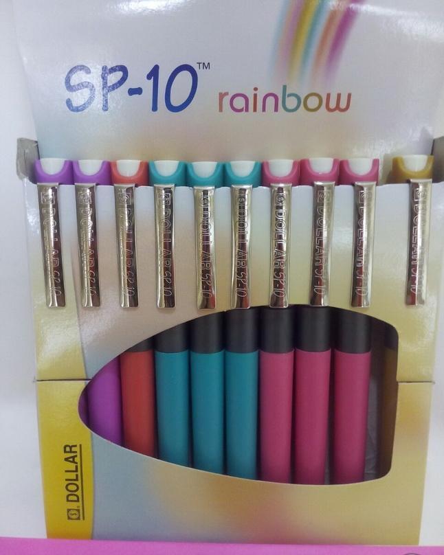 Dollar SP-10 Rainbow Fountain Pen - 6pcs - Multicolour