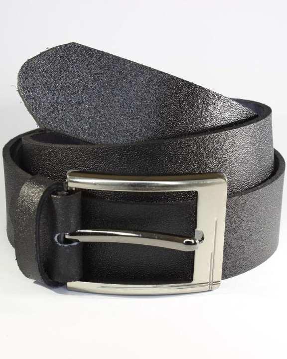 Raven Black Leather Belt for Men