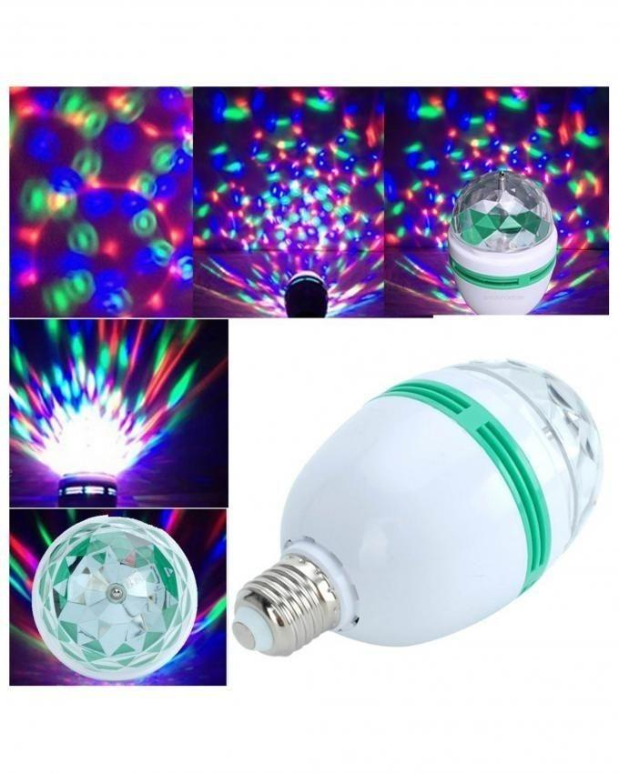 Pack of 2 - LED Full Color Rotating Bulb - White