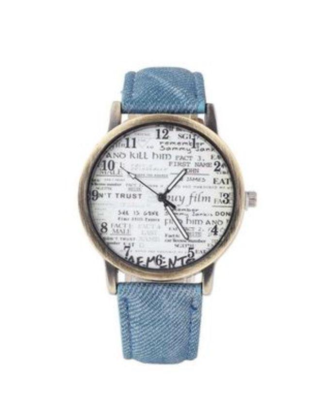 Blue Denim Watch For Women