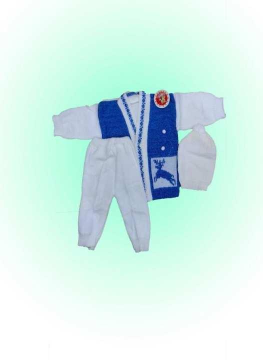 Cool Boy Store Born Baby Warm Woolen Dress Set (Irani)
