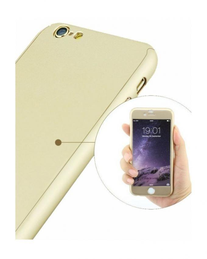 360 Degree Full Protection Case For iPhone 6 & 6S - Golden