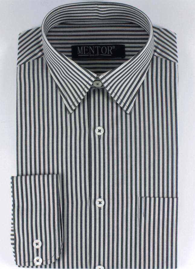 Black With White Striped Dress Shirt