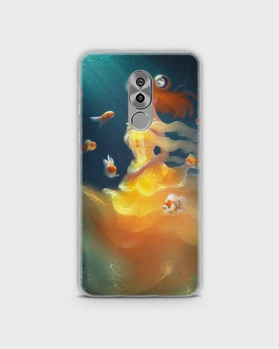 Cover For Huawei Honor 6x Hybrid Soft Mermaid Style Girl -1cover2823