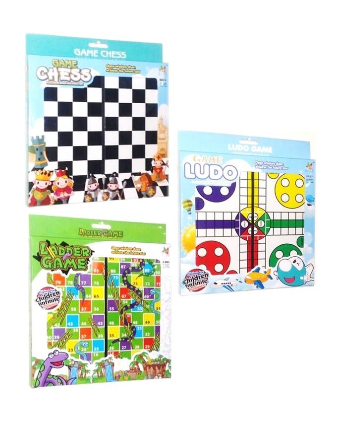 Pack of 3 - Classic Board Games - Multicolor