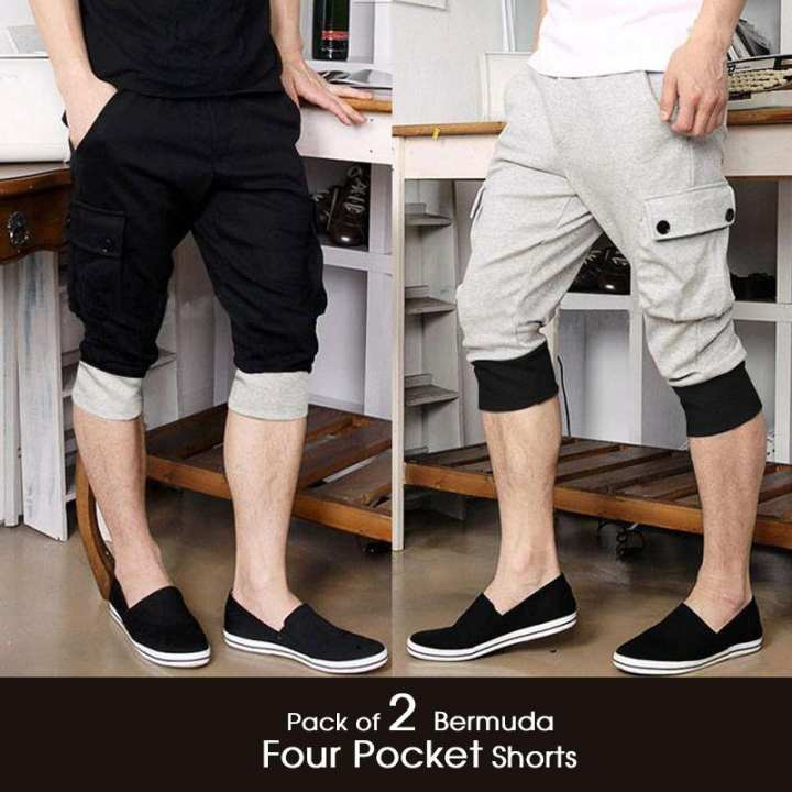 Pack of 2 Bermuda Four Pocket Shorts