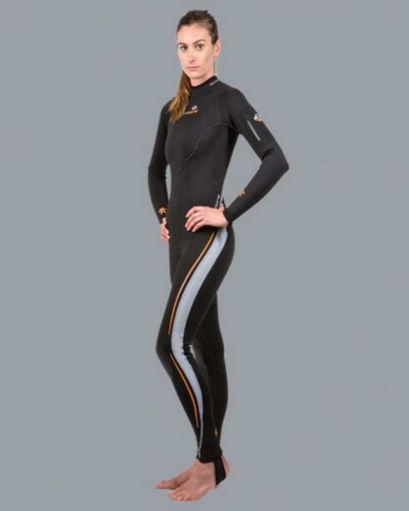 Lavacore Women's Back zip Wet Suit (Full Suit) - Black