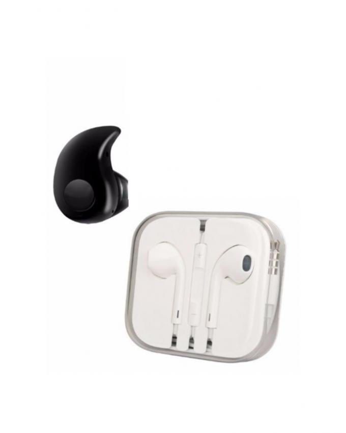 Pack of 2 - Bluetooth Handsfree & Earphones - White & Black