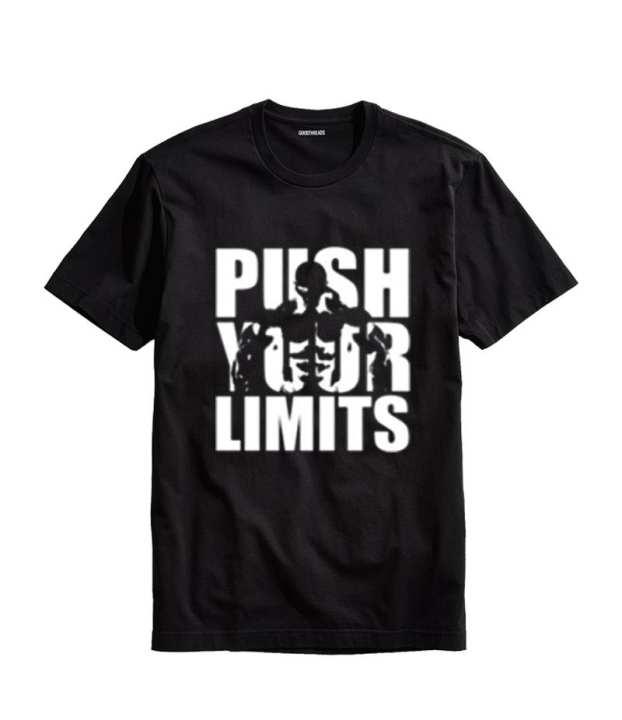 Men'S Push Your Limits Printed T-Shirt. Pyl-77