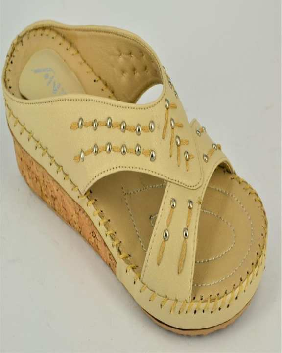 Fawn Rexine And PU Sole Slippers for Women